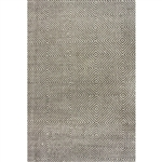 Gray 5' x 8' Flat Woven Hand Made Wool/Cotton Gray Area Rug