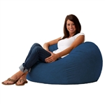Sky Blue Soft Suede 3-Foot Bean Bag Chair Living Room Bedroom Lounger