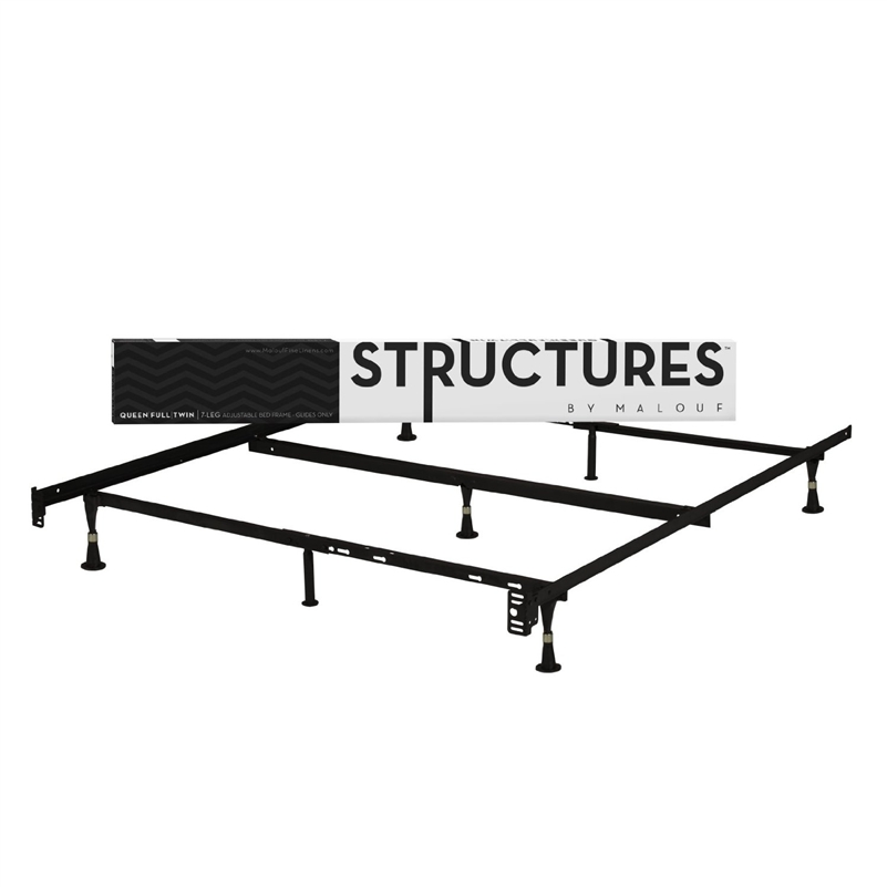 Heavy Duty 7 Leg Metal Bed Frame Fits