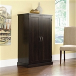 Medium Cherry Wood Finish Computer Armoire