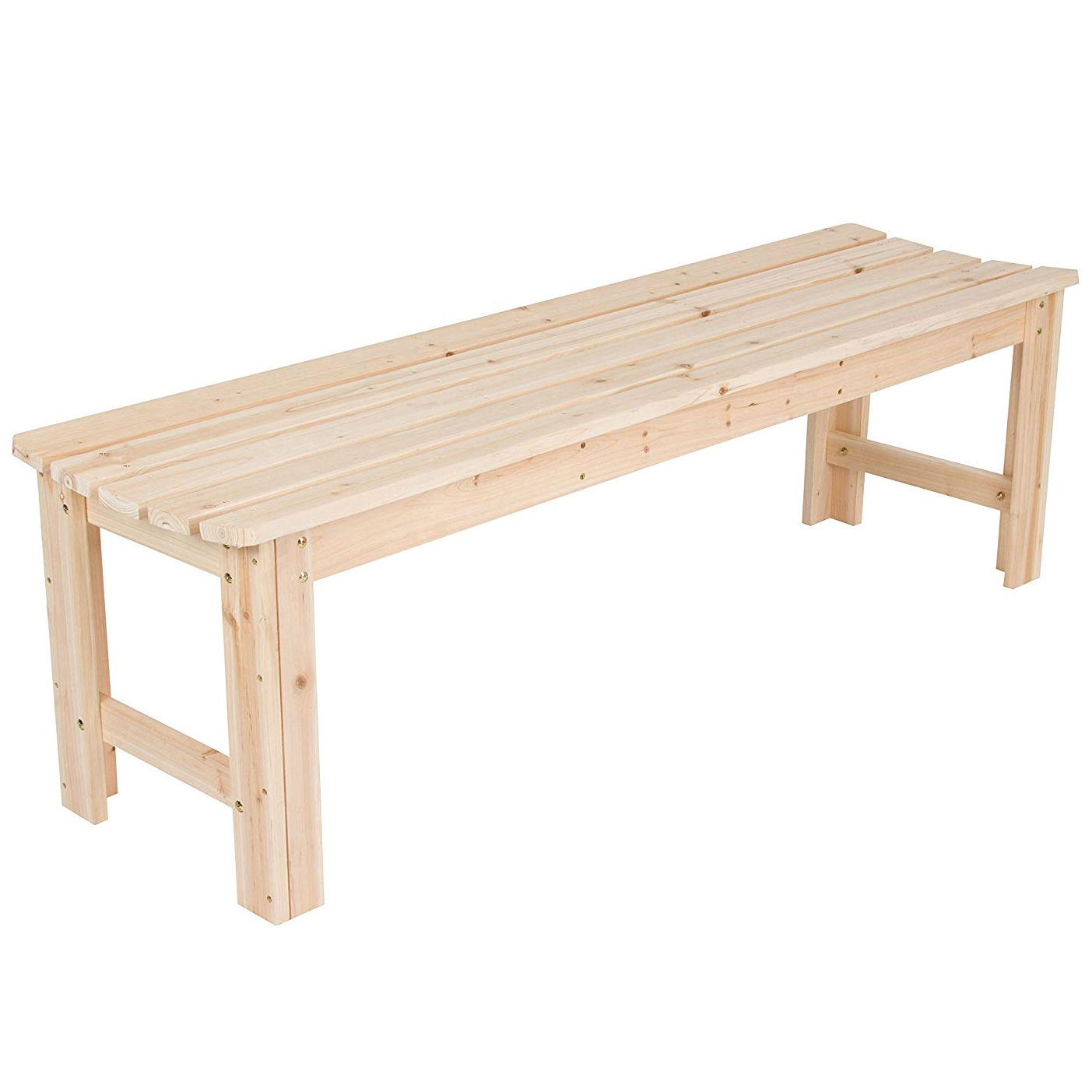 Ordinaire 5 Ft Backless Garden Bench In Natural Yellow Cedar Wood