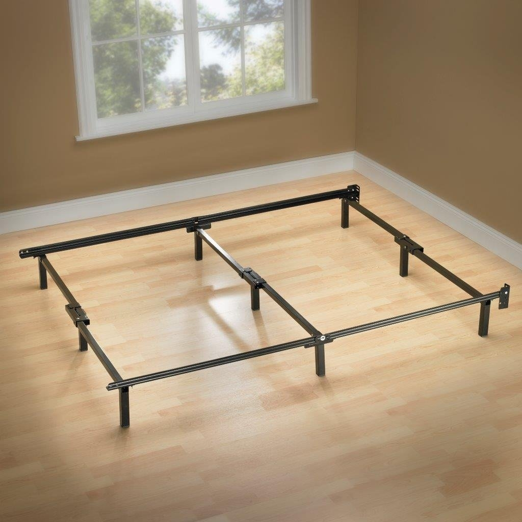 Twin Metal Bed Frame with 6 Support Legs and Headboard Brackets ...