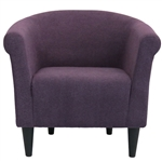 Contemporary Classic Upholstered Club Chair Accent Arm Chair in Eggplant Purple