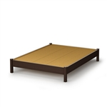 Full size Contemporary Platform Bed in Chocolate Finish
