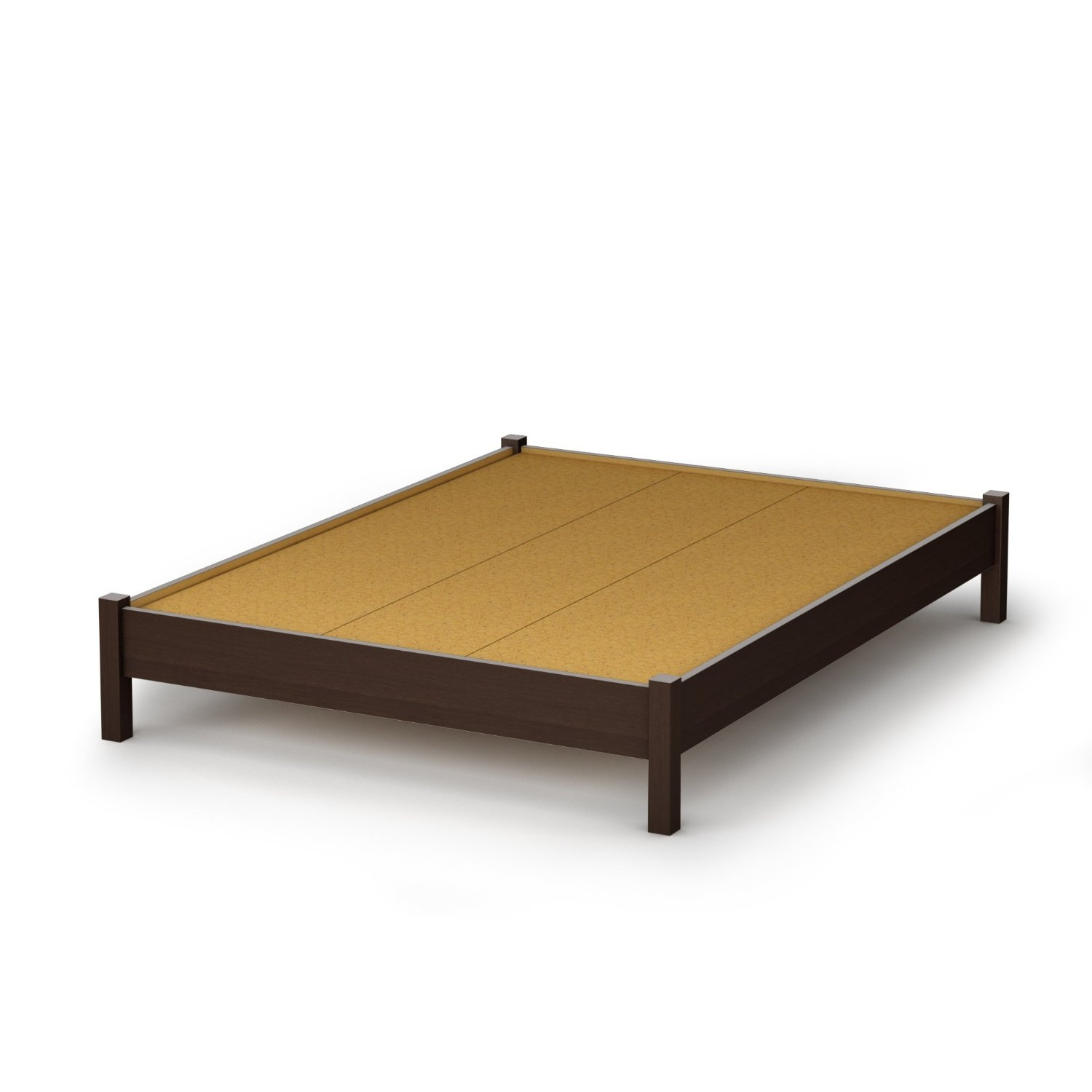 Picture of: Full Size Contemporary Platform Bed In Chocolate Finish Fastfurnishings Com
