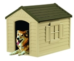 Medium Size Resin Construction Snap Together Dog House