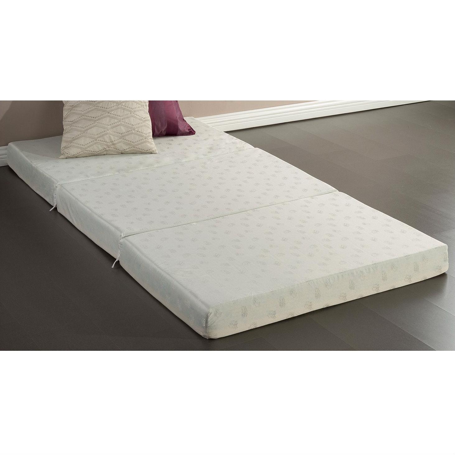 - Twin Size 4-inch Thick Memory Foam Guest Bed Mat Folding Mattress