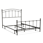 Full size Complete Metal Bed Frame with Round Final Posts Headboard and Footboard