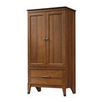 中号褐色樱桃木饰面的卧室衣柜柜子储物柜