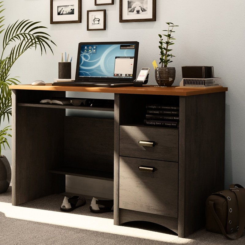 Home Office Work Desk Computer Desk with Keyboard Tray