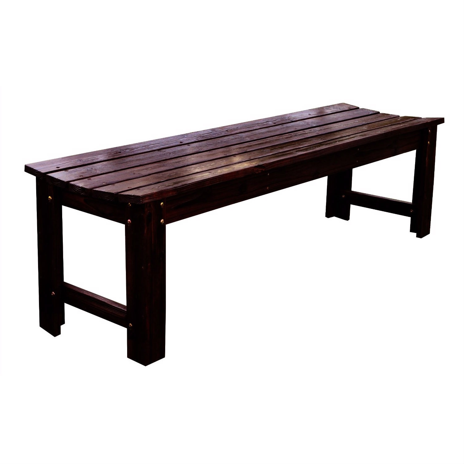 Picture of: 5 Feet Backless Outdoor Garden Patio Cedar Wood Bench In Burn Brown Fastfurnishings Com