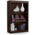 3-Shelf Bookcase in Chocolate Brown - Made from CARB Compliant Particle Board