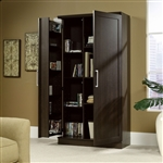 Multi-Purpose Living Room Kitchen Cupboard Storage Cabinet Armoire in Mocha Brown