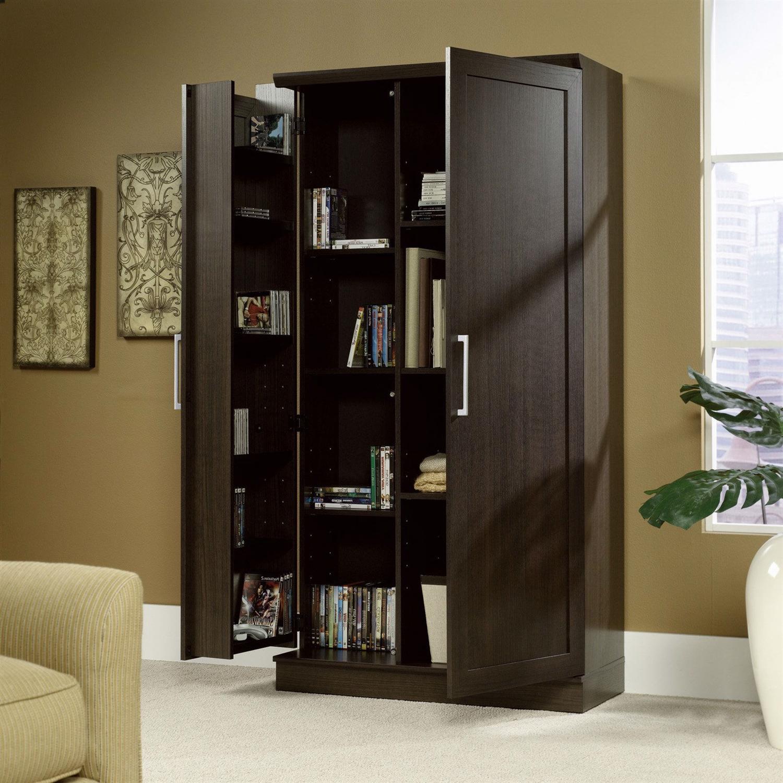 Multi Purpose Living Room Kitchen Cupboard Storage Cabinet Armoire In Brown