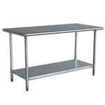 Stainless Steel Top Utility Table High Top Workbench Prep Table