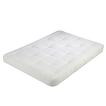 Full size 5-inch Thick Cotton/Poly Futon Mattress in White