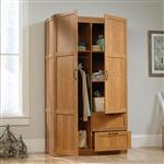 中号橡木表面卧室衣橱储物柜收纳器