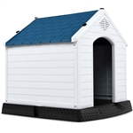 Small Outdoor Heavy Duty Blue and White Plastic Dog House