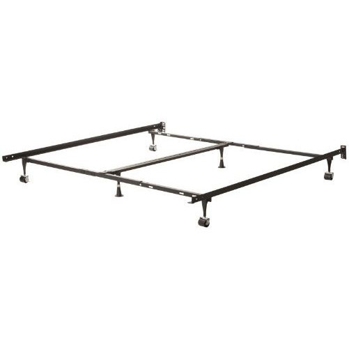 Heavy Duty 6 Leg Metal Bed Frame Adjust To Fit Twin Full