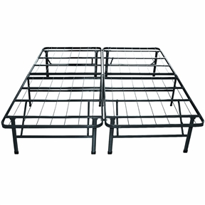 twin extra long metal platform bed frame with storage space. Black Bedroom Furniture Sets. Home Design Ideas