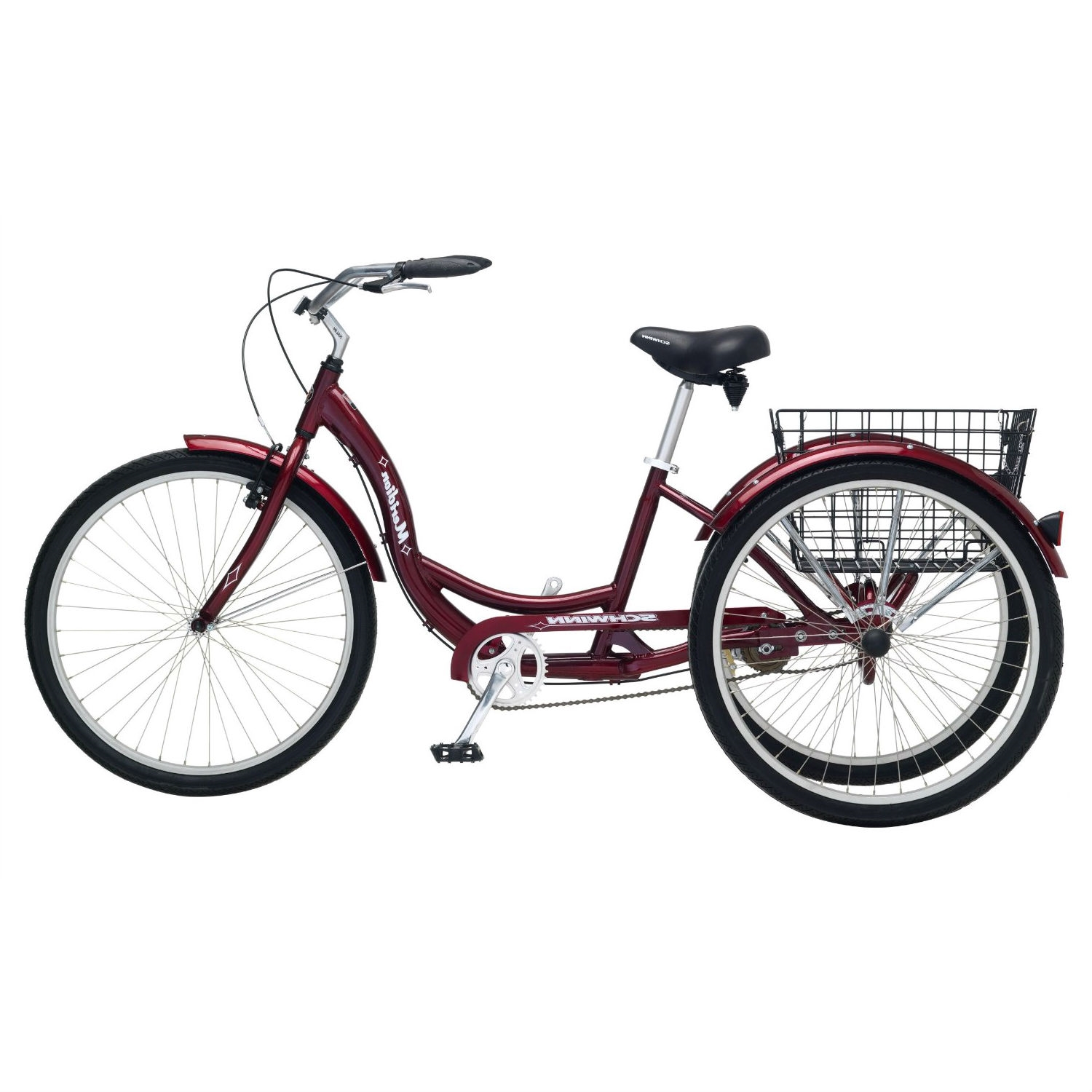 Black Cherry Single Speed Adult 3 Wheel Cruiser Bike