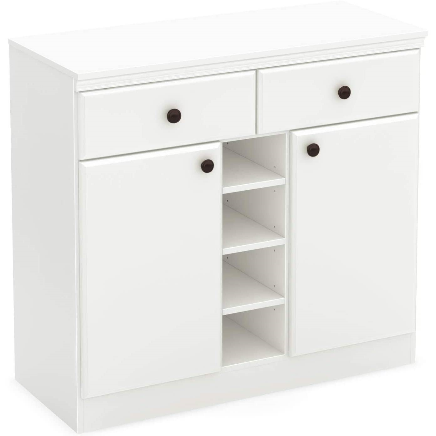 White Dining Room Sideboard Buffet Console Table with 2 Drawers ...