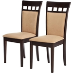 Set of 2- Contemporary Dining Chairs in Cappuccino Finish
