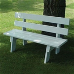 Sturdy Back Support White Vinyl Park Bench