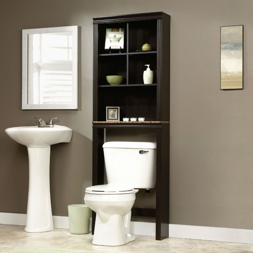 Bathroom Etagere over toilet bathroom storage cabinet shelves cubby etagere