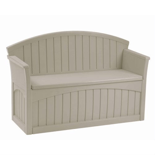 Outdoor Patio Garden Bench with 50-Gallon Storage Space Under Seat