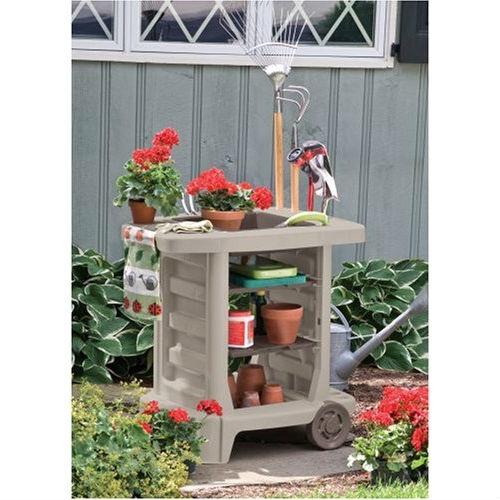 Outdoor Portable Potting Bench Gardening Station Utility Bin