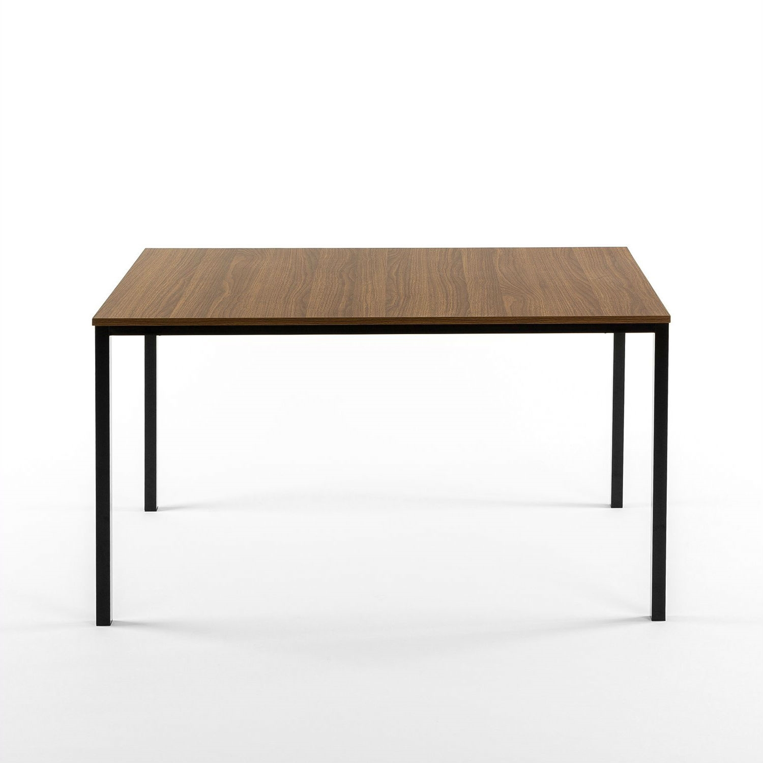 Modern 48 X 30 Inch Steel Frame Dining Table With Wood Grain Top