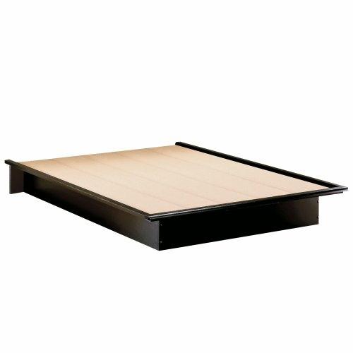 Full Size Modern Platform Bed Frame in Black Finish