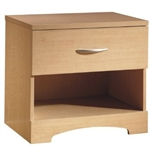 1-Drawer One Shelf Nightstand / Night Table in Natural Maple