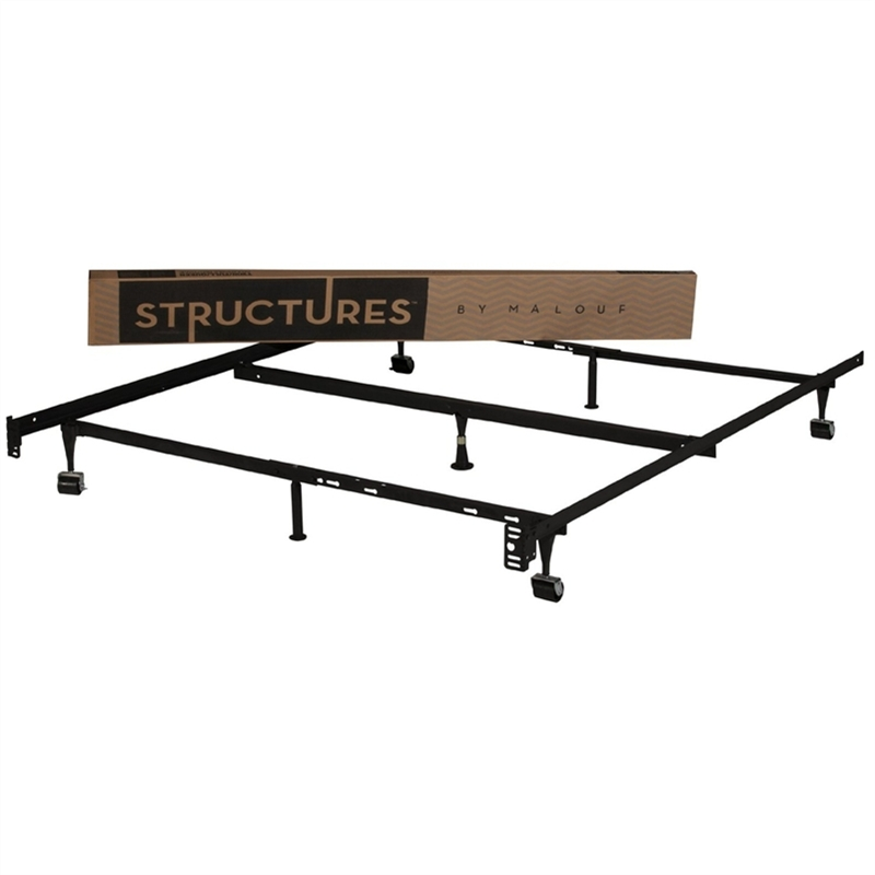FastFurnishings.com | Heavy Duty 7 Leg Adjustable Metal Bed Frame