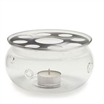 Glass Teapot Warmer with Tea-light Candle