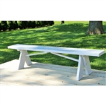 Sturdy White 6 ft. Backless Vinyl Bench