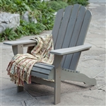 Weather Resistant Eco-Friendly Eucalyptus Wood Adirondack Chair in Driftwood Color