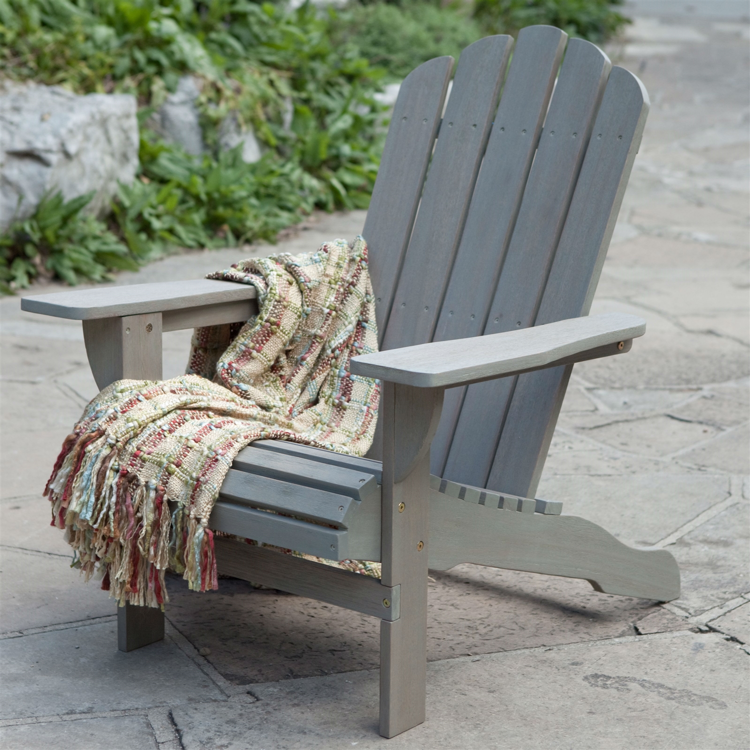 Weather Resistant Eco-Friendly Eucalyptus Wood Adirondack Chair in ... for Driftwood Color Furniture  174mzq