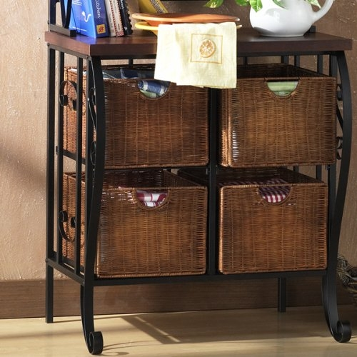 its kitchen with drawer disc description this racks discontinued rack elegant displaying wooden bakers drawers for perfect your scroll organize