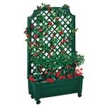 室内室外绿色聚丙烯轮式花架