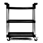3-Tier Printer Stand Utility Cart with Locking Casters