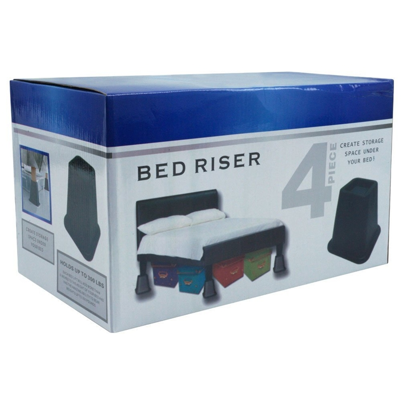 High Bed Risers 6 Inch High Bed Risers In Black 4 Pack