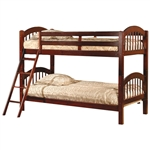 双层床,双层床,带樱桃樱桃拱形床头板