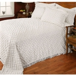 Twin size 100% Cotton Bedspread in Beige with Diamond Pattern