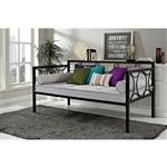 双人现代黑金属沙发床可用作床或座椅