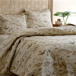 Full / Queen size 100% Cotton Caribbean Map Reversible Quilt Set
