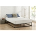 Twin size 10-inch Low Profile Modern Metal Platform Bed Frame with Wooden Slats