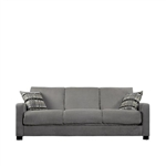 Sage Green Microfiber Convertible Couch Futon Sleeper Sofa