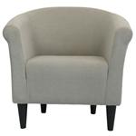 现代经典口音扶手椅子灰褐色软垫俱乐部椅子